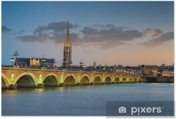 Póster Burdeos - Puente de Piedra y de la Basílica de Saint-Michel - Temas