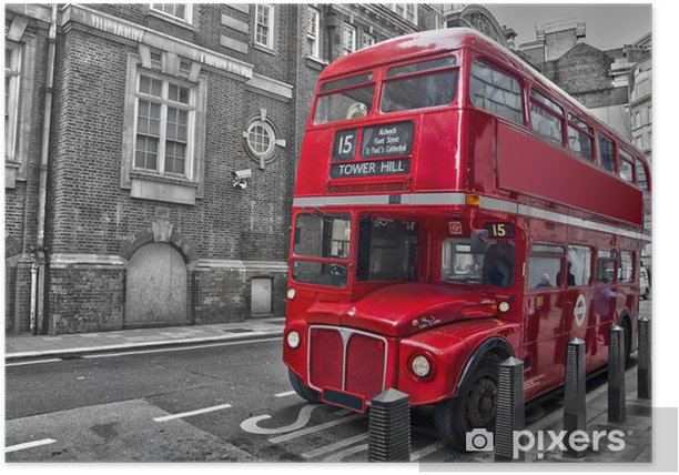 Bus rouge typique - Londres (UK) Poster - Styles