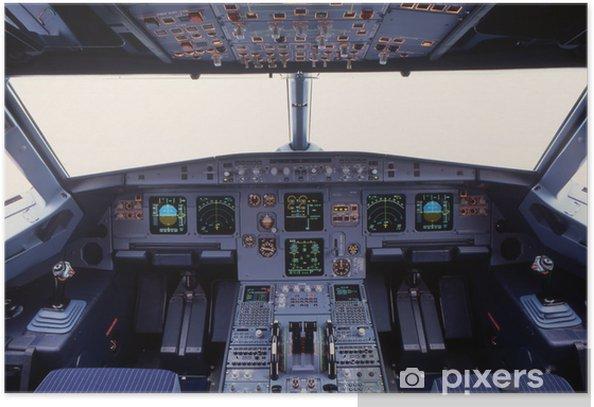 Póster Cabina A319 - Por aire