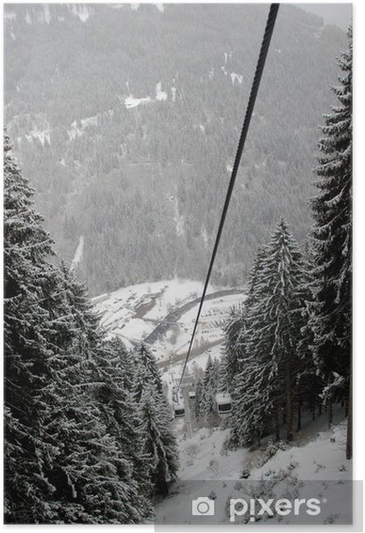 Cableway in Pedrazzo, Dolomites, Italy Poster - Europe
