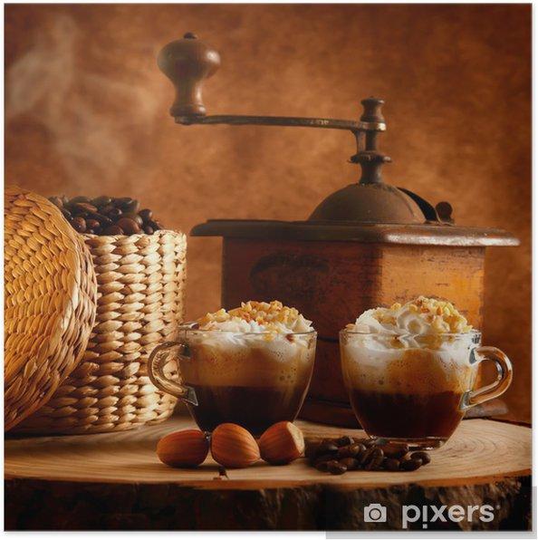 Poster Caffè con Panna e nocciole - Pour restaurant
