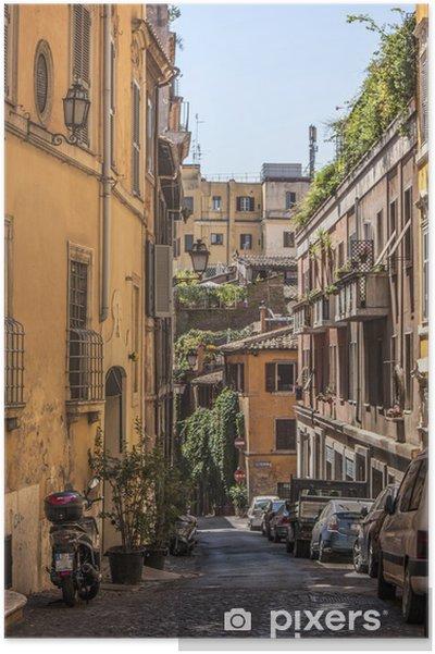 Poster Calle Roma - Villes européennes
