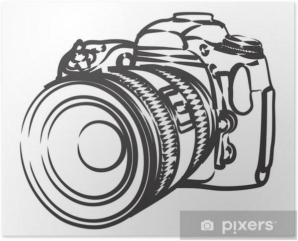 Poster Camera. - Kunst en Creatie