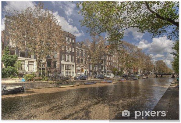 Poster Canal d'Amsterdam - Villes européennes