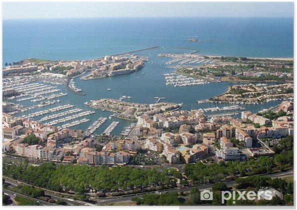 Póster Cap d'Agde puerto - Infraestructuras