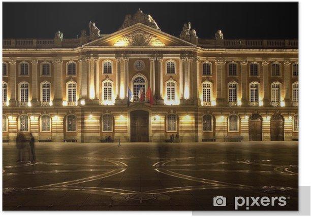 Capitole de toulouse et croix occitane la nuit poster pixers we live to change - Bureau de change toulouse capitole ...