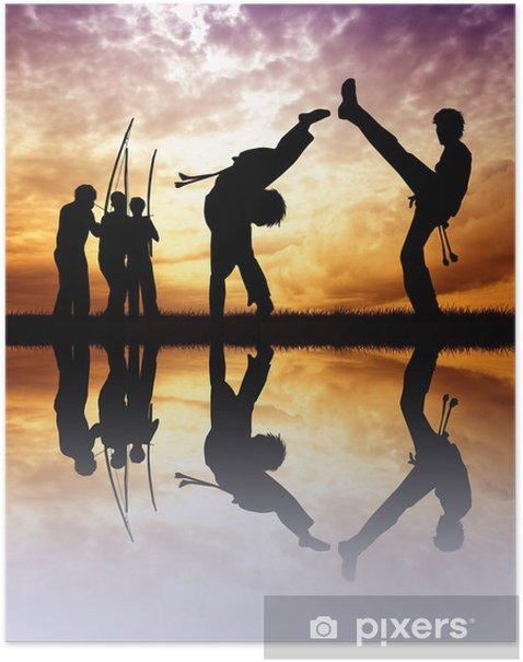 Poster Capoeira au coucher du soleil - Thèmes