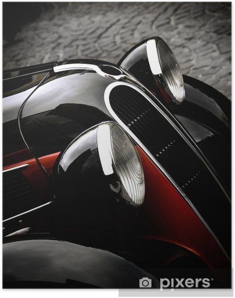 Poster Car vintage - Textures