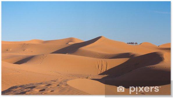 Poster Caravane de chameau - Désert
