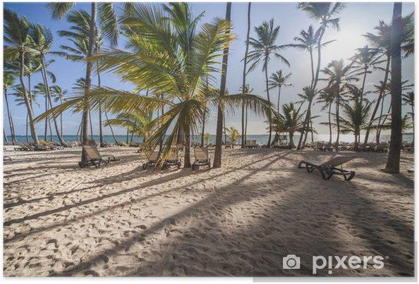 Poster Caribbean Beach bij zonsopgang - Thema's