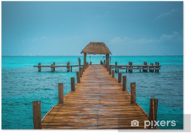 Caribbean pier Poster - Themes