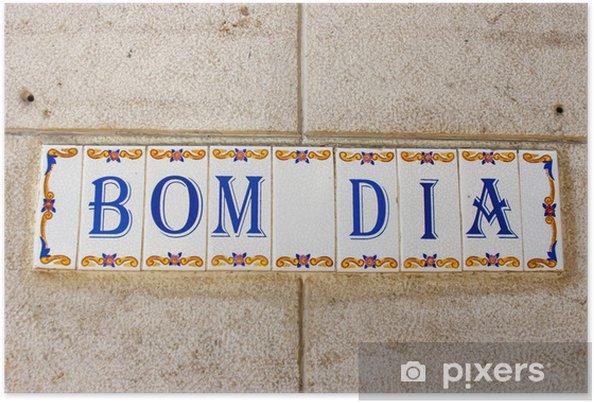 Poster Carreaux de voeux sur le mur d'une maison à Lisbonne, Portugal - Villes européennes