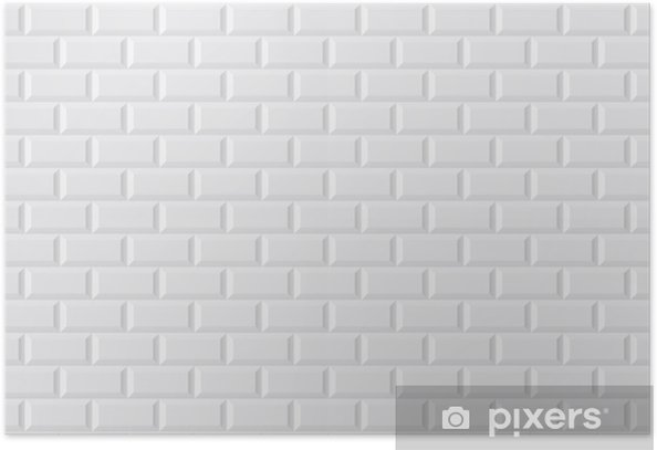 Carrelage blanc metro Poster - Styles