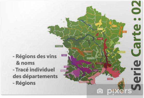 carte des vins de france poster Carte des vins de France Poster • Pixers®   We live to change