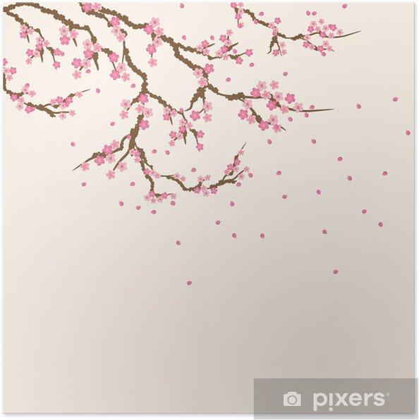 Poster Carte postale sakura - Thèmes