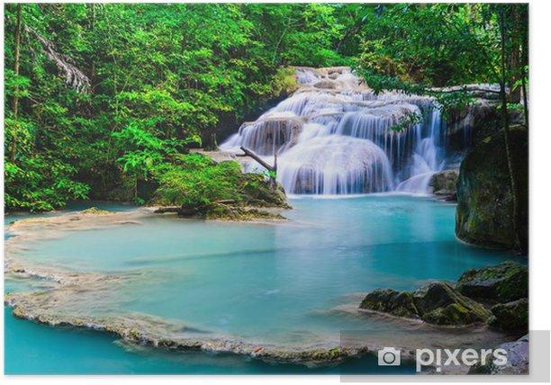 Poster Cascade à Erawan National Park - Asie