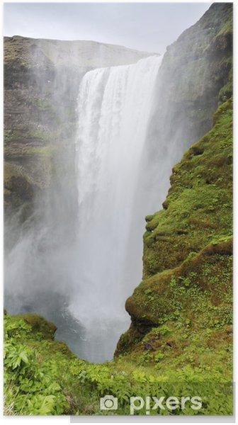 Poster Cascade de Skogafoss, Islande - Europe