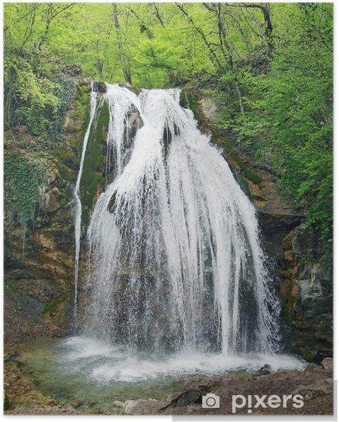 Poster Cascade jour-jour en Crimée, Ukraine - Merveilles naturelles