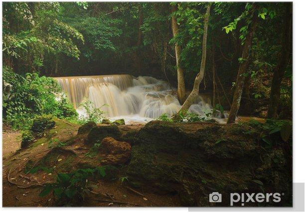 Poster Cascades naturelles en forêts tropicales - Nature et régions sauvages