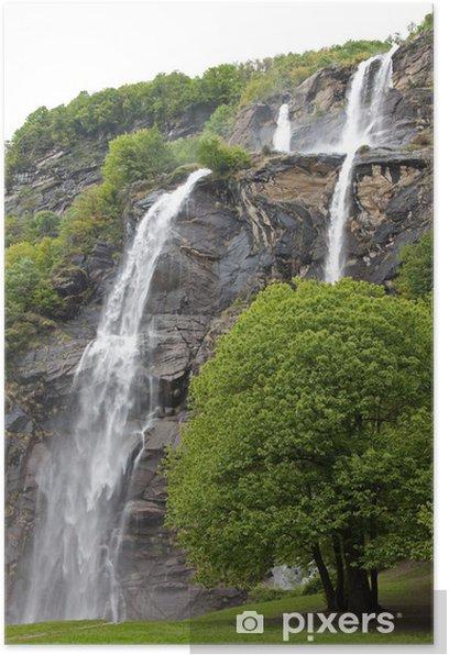 Poster Cascades, vallée de Chiavenna - Thèmes