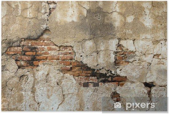 Poster Cassez les vieux murs de brique à l'intérieur - Thèmes