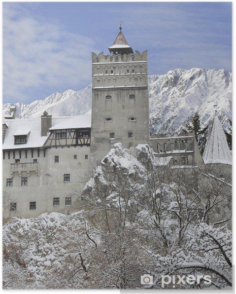 Póster Castillo del salvado de Dracula, Transilvania, Rumanía - Europa