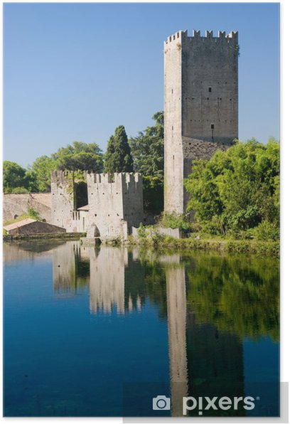 castle in the water Poster - Europe