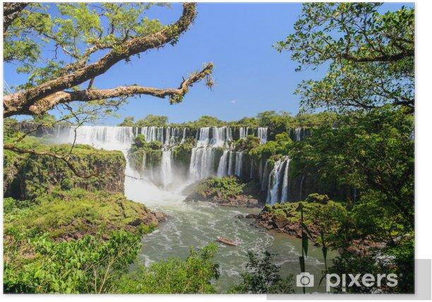 Póster Cataratas del Iguazú vista desde Argentina - Agua