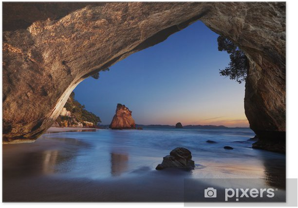 Cathedral Cove, New Zealand Poster - Themes