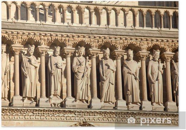 Cathedral Notre Dame de Paris (1160-1345), Paris, Poster - Europe