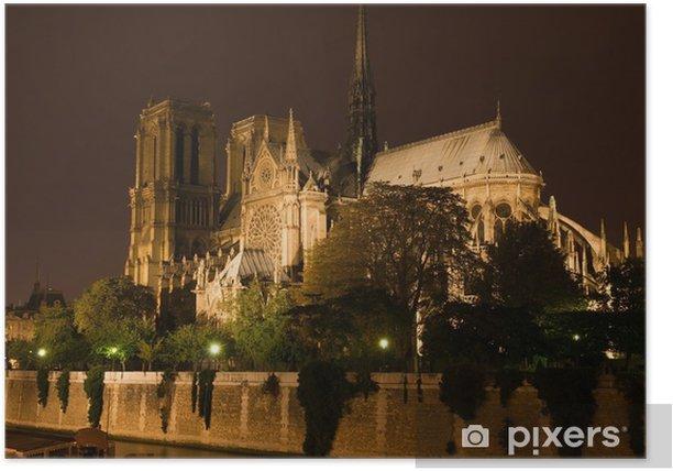Poster Cathédrale Notre-Dame - Villes européennes