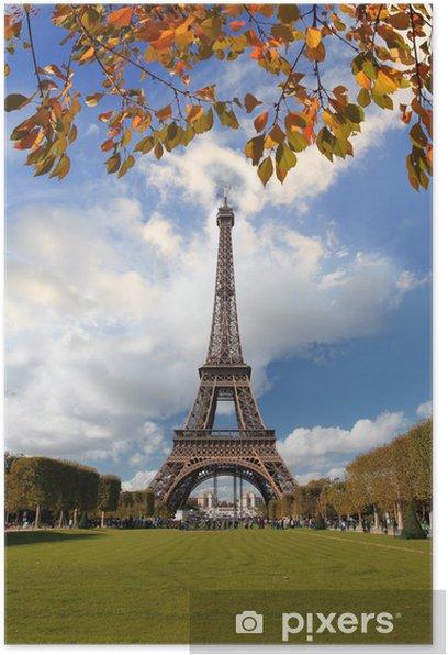 Poster Célèbre Arc de Triomphe en automne, Paris, France - Villes européennes