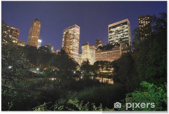 Poster Central Park au crépuscule - Villes américaines