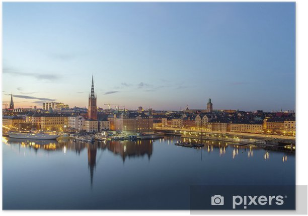 Poster Centre de Stockholm - Europe