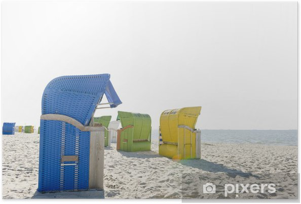Poster Chaises de plage 3 - Vacances