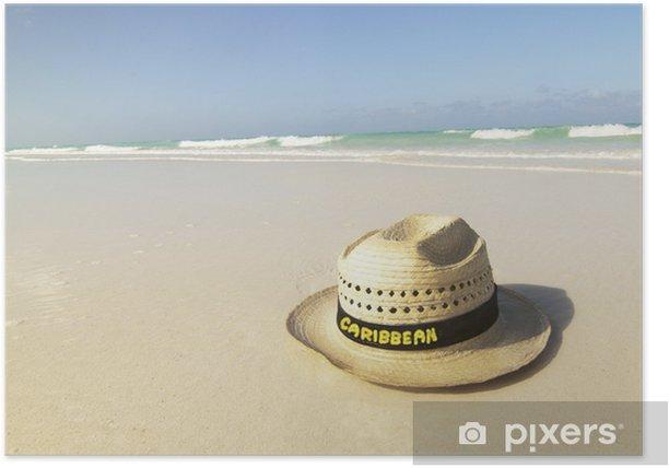Poster Chapeau sur la plage - Vacances