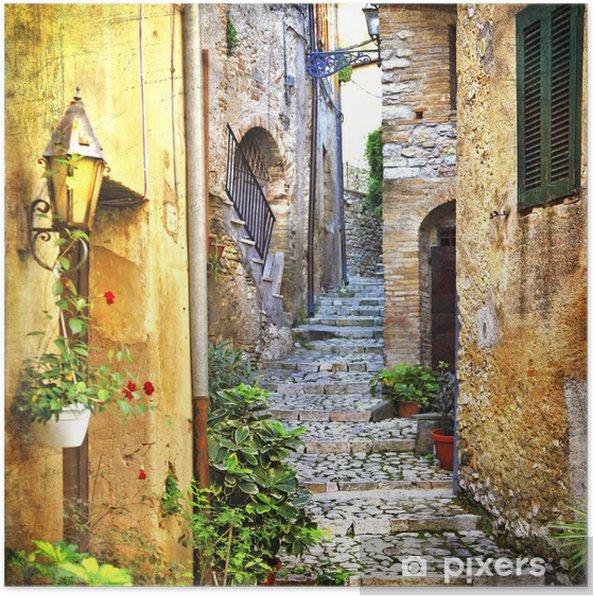 Poster Charmantes vieilles rues de la Méditerranée - Thèmes