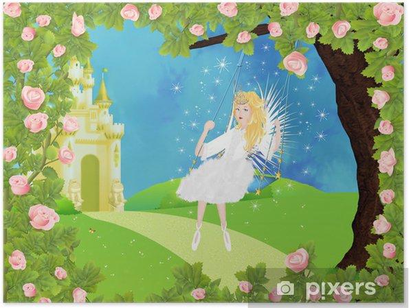 Poster Château, frais, conte de fées - Destin