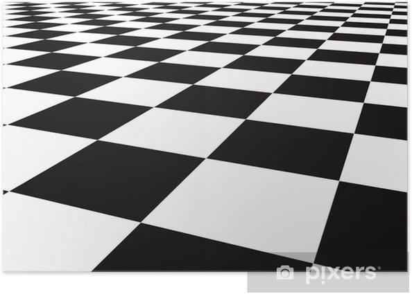 Poster Checker vloer - Achtergrond