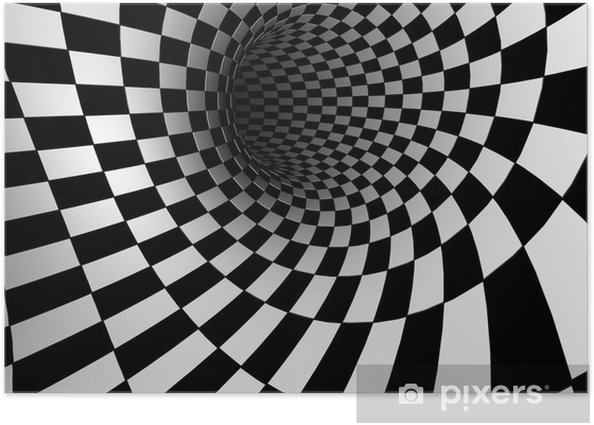 Checkered Texture 3d Background Poster Pixers 174 We Live