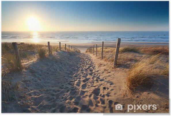 Poster Chemin de la plage de sable en mer du Nord - Thèmes