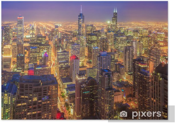 Chicago skyline Poster - Themes