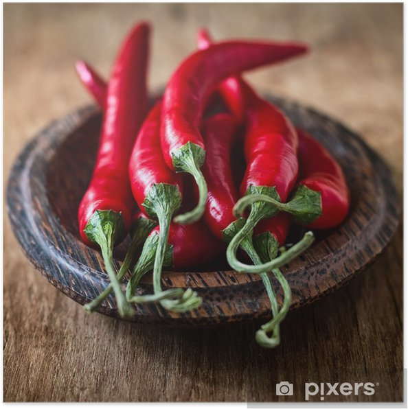 Póster Chili pepper - Vegetales