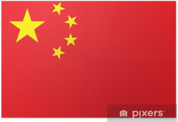 China Flag High Resolution Poster - Themes