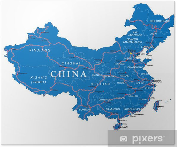China Map Poster.China Map Poster Pixers We Live To Change