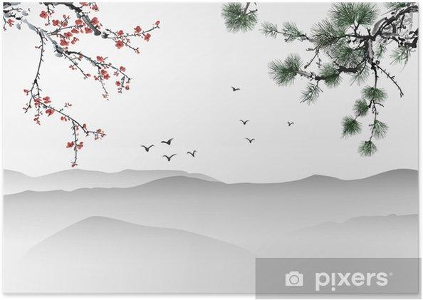 Poster Chinees schilderij - Thema's