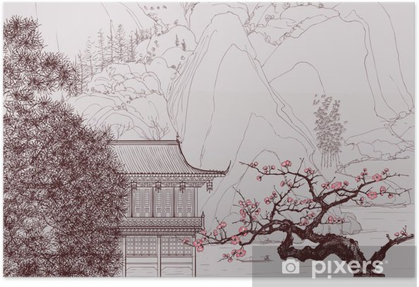 Chinese landscape Poster - Styles