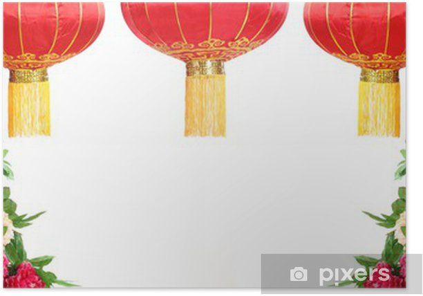 Chinese New Year Decoration Poster - Asia