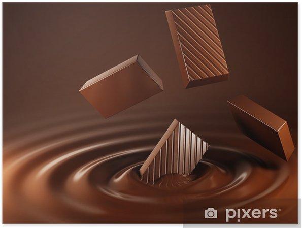 Poster Chocolat - Pour café