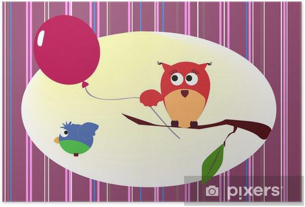 Poster Chouette avec le ballon - Thèmes
